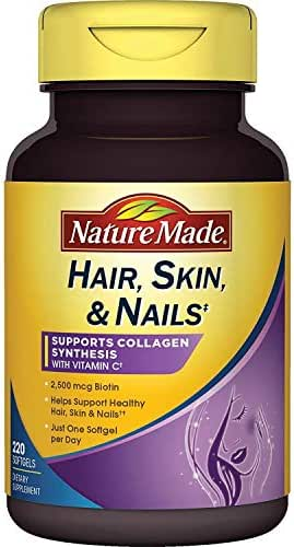 Nature Made Hair, Skin, Nails with Biotin 2500 mcg, 220 Count Softgels