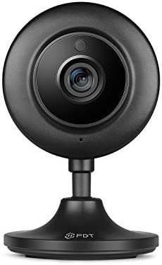 FDT 720P HD WiFi IP Camera 1.0 Megapixel Indoor Wireless Security Camera, Plug Play, Wide 75 Viewing Angle, Night Vision FD7904 Black