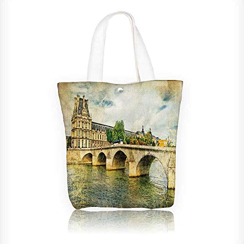 Reusable Cotton Canvas Zipper bag Full Moon with Clouds Tote Laptop Beach Handbags W11xH11xD3 INCH