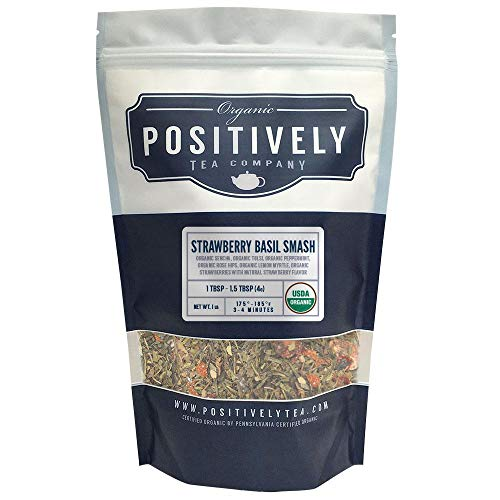 Tea Green Company (Positively Tea Company, Organic Strawberry Basil Smash, Green Tea, Loose Leaf, USDA Organic, 1 Pound Bag)