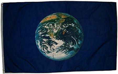 Amazon.com: NUEVO 3 x 5 Bandera de día de la Tierra Medio ...