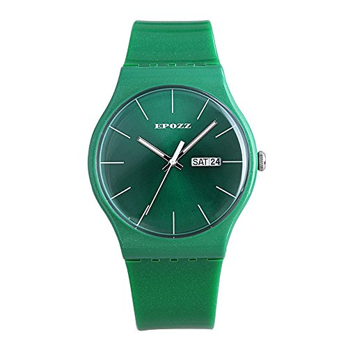 [Epozz girls Casual Rubber Band Wrist Watch Waterproof Green] (Home Made Video Game Costumes)