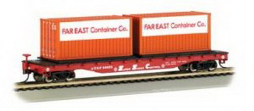 Bachmann Trains Santa Fe Flat Car With Container Load-Ho ()