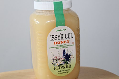 Tien-Shan Organic Mountain and Flower Honey Unprocessed Unheated or strained free of pesticide (Issyk Cul Organic Flower Honey Plasitc Container, 35,3 OZ.)