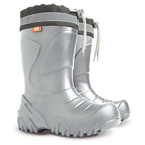 Kids Ultra EVA Size Boots Snow Wellies Girls 5 Rainy Silver Boys light 13 Wellington FFH4f