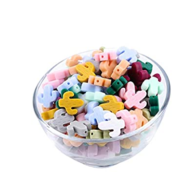 Let's Make Food Grade Silicone Beads 10pc Mix Color Bulk Baby Teether Nursing Jewelry Accessory: Toys & Games
