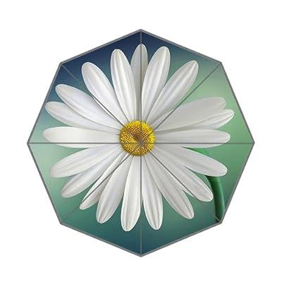 110,2x 65cm Blanc frais Daisy Motif parapluie