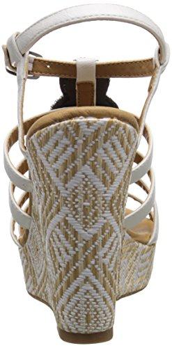 Dolce Di Mojo Moxy Womens Corona Sandalo Con Zeppa Bianco