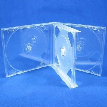 Vision Media - Caja transparente para discos compactos (10 cajas x 4 CD)