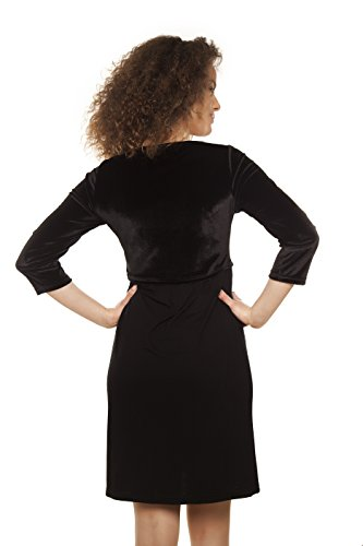 Mamatayoe Damen Kleid, Casual Artimino Black (Schwarz)