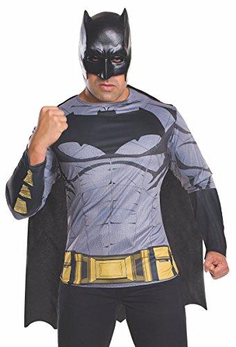 Man Bat Costumes (Rubie's Men's Batman v Superman: Dawn of Justice Batman Costume Top)