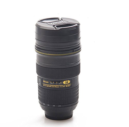 Sornean Coffee/Tea Mug,Camera Lens Travel Thermos,Stainless Steel Insulated - Camera Lens Coffee Travel Mug