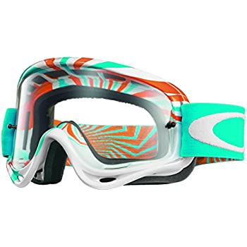 oakley goggles white  Amazon.com: Oakley O-Frame MX Sand Podium Check Goggles (White ...