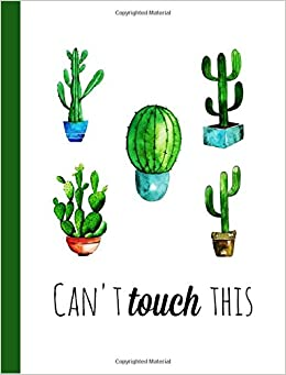 Cactus Composition Notebook: College Ruled Composition Book