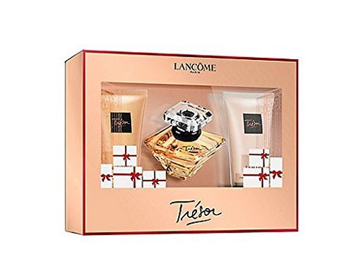 1.0 Edp Perfume (Lancome Tresor Gift Set 1.0oz (30ml) EDP + 1.7oz (50ml) Body Lotion + 1.7oz (50ml) Shower Gel)