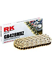 RK Racing Chain GB428MXZ132 132-Links Gold MX Chain with Connecting Link