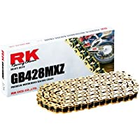 RK Racing Chain GB428MXZ-118 Gold 118-Links Heavy Duty...