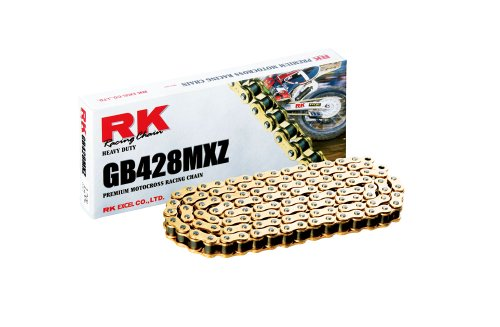 RK Racing Chain GB428MXZ120 120-Links Gold MX Chain with Connecting Link