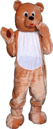 Forum Deluxe Plush Honey Bear Mascot Costume, Tan, One Size