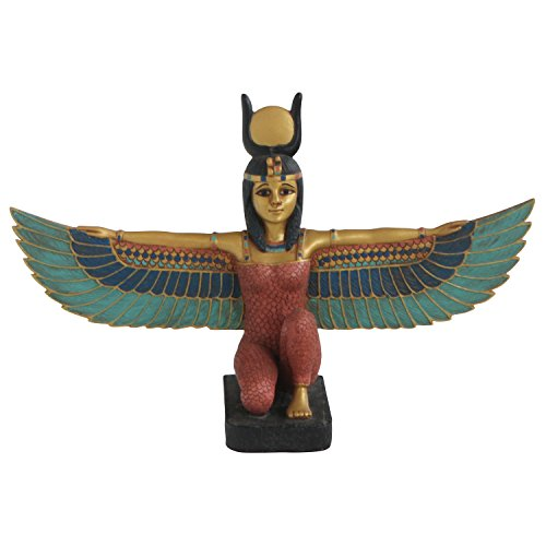 Kneeling Winged Isis, Gold Details, Small (Isis Winged)