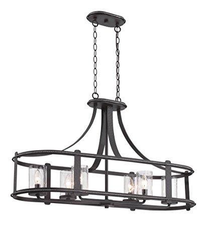 (Designers Fountain 87538-APW Palencia 6 Light Linear Chandelier)