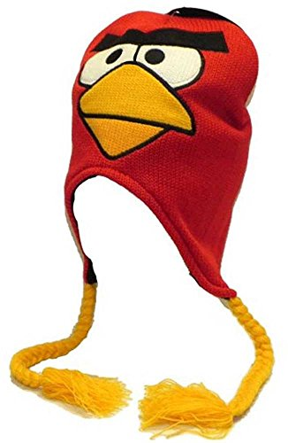Laplander Peruvian Knit - Angry Birds Red Bird Knit Peruvian Laplander Cap