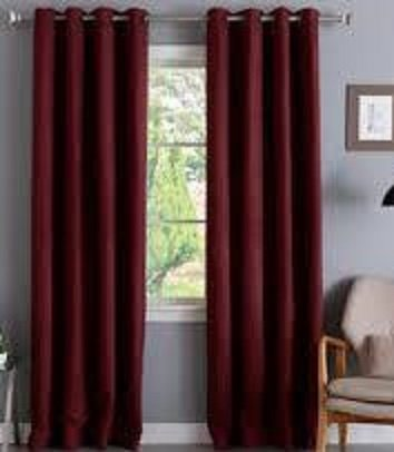 Window Curtain Foam Lined blackout thermal treatment Red wine - 4