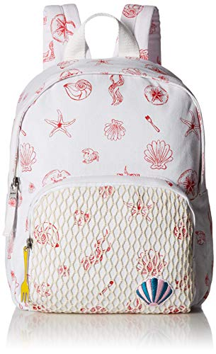 Roxy Girls' Big Little Mermaid Always Core Small Backpack, bright white ocean treasure, 1SZ ()