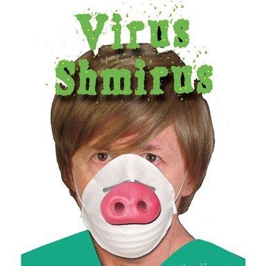 HMS Funny Swine Flu Mask Halloween Costume Accessory by HMS]()