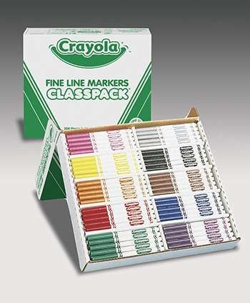 Crayola Classpack Markers 200 Ct Non Washable Fine Tip By Crayola Llc from Crayola