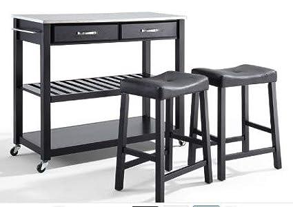 Pleasant Amazon Com Kitchen Islands With Storage Black Wood Short Links Chair Design For Home Short Linksinfo