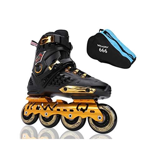 Roller Skates,Skates, Inline Skates, Adult Boys and Girls, Professional Multi-Purpose Skates (3 Colors) (Color : Black, Size : EU 39/US 7/UK 6/JP 24.5cm)