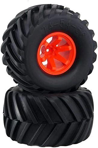 RC 0801-3003 Rubber Tires Wheel Sets 4P For HSP HPI 1:10 Monster