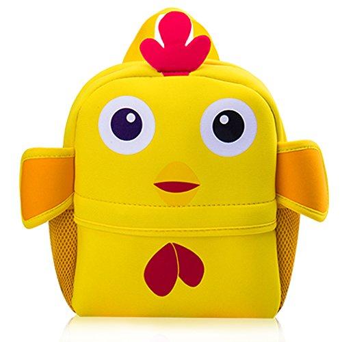Coafit Kinder Schulrucksack Niedlicher Rucksack Der Karikatur Tier Mehrzweck Schule Büchertasche Yellow Chick Ds32FcPm