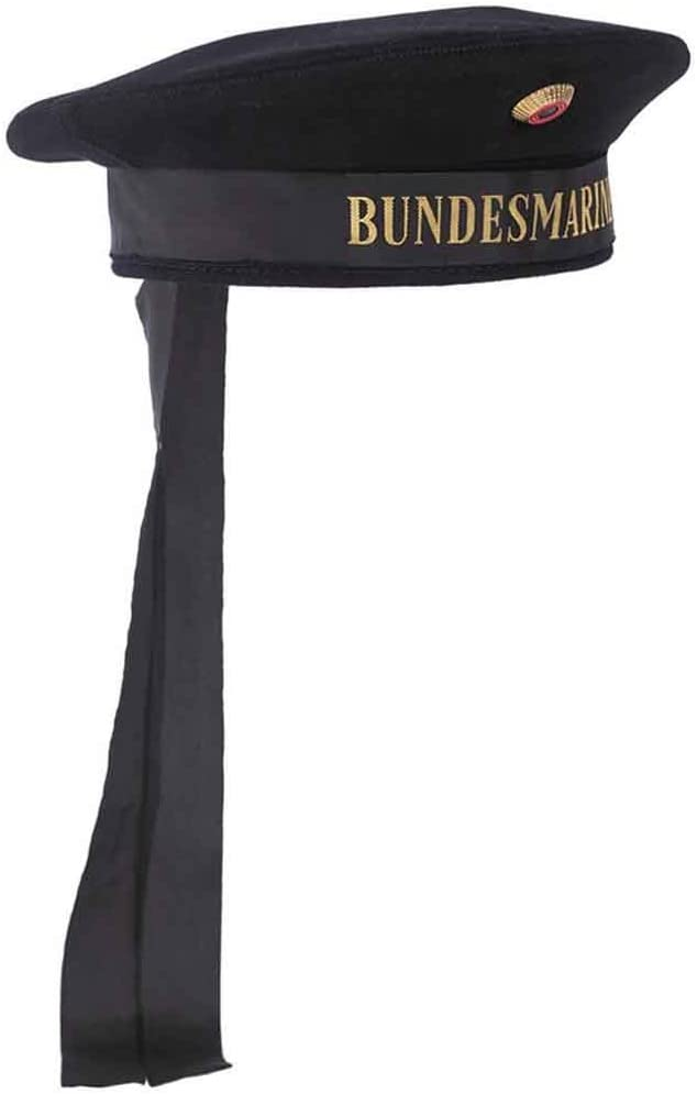 Abz wei/ß Mil-Tec BW Marine Tellerm/ütze m