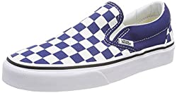 Vans Classic Slip-on Checkerboard Unisex Slip On Royal White - 5.5 Uk