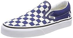 Vans Classic Slip-on Checkerboard Unisex Slip On Royal White - 5.5 Uk