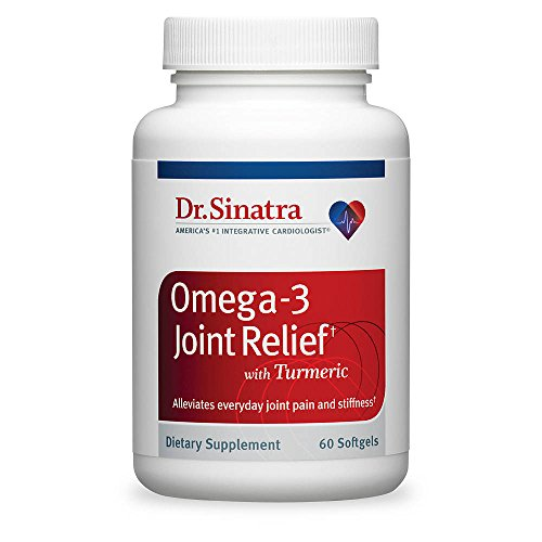 Dr. Sinatra's Omega-3 Joint Relief with Turmeric – Faster, Stronger Joint Pain ReliefEasy on Your Stomach, Good for Your Heart, 60 Softgels (30-Day Supply)