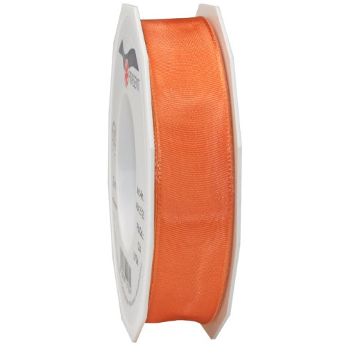 Morex Ribbon French Wired Lyon Ribbon, 1-Inch by 27-Yard Spool, Orange