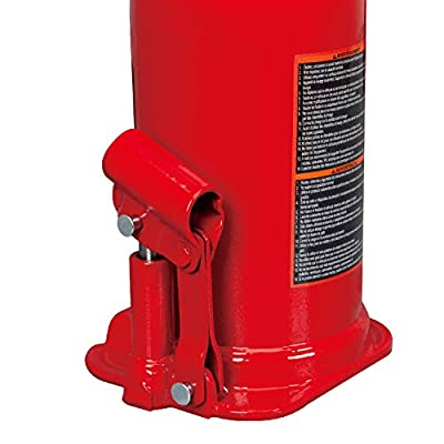 BIG RED T92003B Torin Hydraulic Welded Bottle Jack, 20 Ton (40,000 lb) Capacity: Automotive