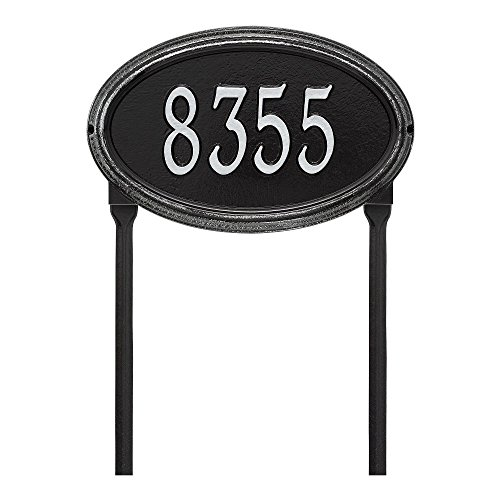 Customized Concord OVAL Standard LAWN Address Plaque 21