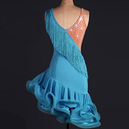 Abiti Latina Abito Latino Nappa Blue Lisca Vestito S Per Pesce Donne xl Gonna Costume Professionale Wqwlf Danza Di Colori A Prestazione Cuciture Ballo Da Competizione qCa4fE