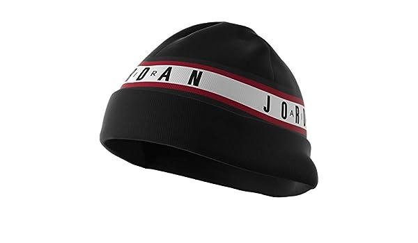9ff6eb72 Amazon.com: Nike Mens Jordan Sport Tape Cuffed Knit Beanie Black  AR3022-010: Clothing