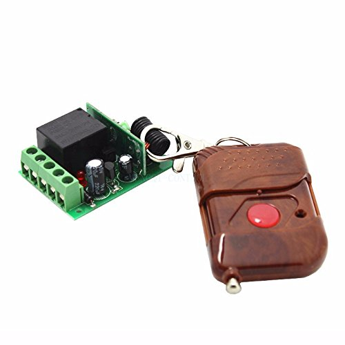 Wireless Remote Control Switch + Receiver for Access Control Open Door 1 Channel Transmitter Receiver Access (Access Control Receiver)
