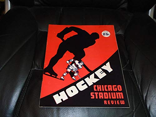 1951 1952 DETROIT RED WINGS AT CHICAGO BLACK HAWKS NHL HOCKEY PROGRAM ()