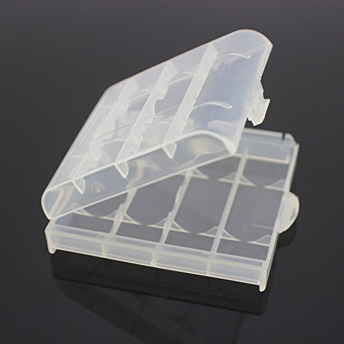 SODIAL(R) Pack of 4 PCS AA / AAA Battery Storage Hard Case Box-Clear by SODIAL(R) (Image #1)