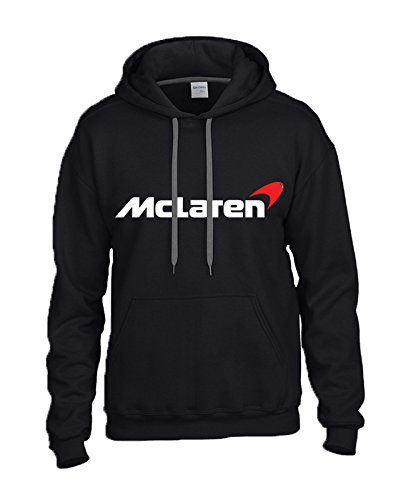mclaren-white-red-logo-on-black-hooded-sweater-sweatshirt-hoodie-size-large
