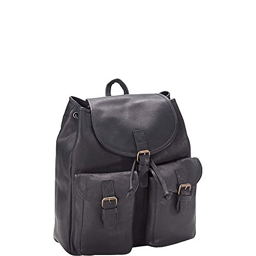 Clava Drawstring Backpack - Vachetta Black