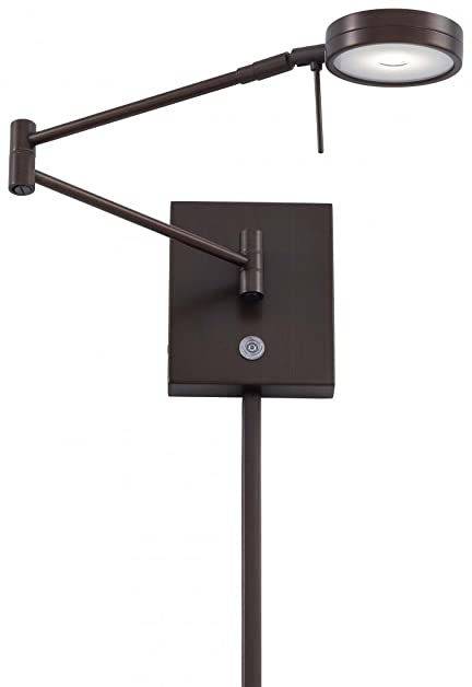 George Kovacs P4308 647 Georges Reading Room Swing Arm Wall Sconce Light With Z05 LED