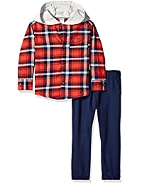 """Carter's Little Boys' Toddler """"Hooded Flannel"""" 2-Piece Outfit"""